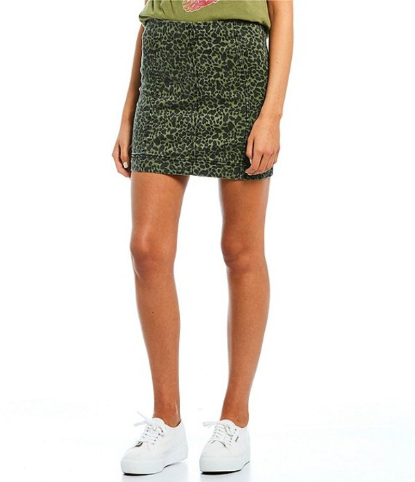 JOLT レディース スカート ボトムス Animal Print High Rise Mini Skirt Dust