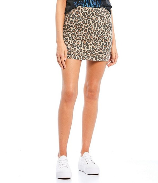 JOLT レディース スカート ボトムス Animal Print High Rise Mini Skirt Leopard