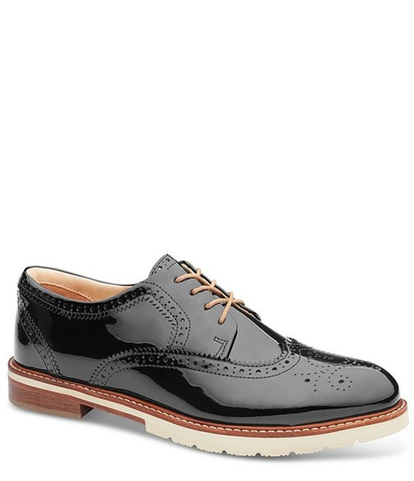 サミュエルフドバード レディース オックスフォード シューズ Winged Traveler Patent Leather Oxfords Black Patent