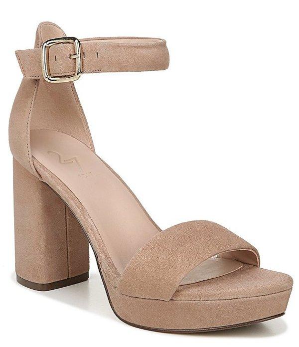27エディット レディース サンダル シューズ Briar Suede Platform Block Heel Dress Sandals Taupe Suede