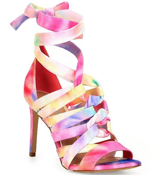 ジャンビニ レディース サンダル シューズ Abrianna Tie-Dye Lace-Up Stiletto Sandals Bright/Multi