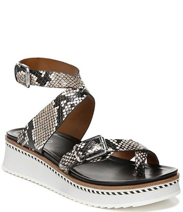 フランコサルト レディース サンダル シューズ Eli Snake Print Thong Sandals Natural