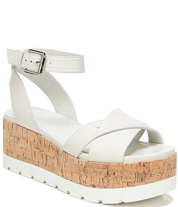 フランコサルト レディース サンダル シューズ Fae Leather Cork Wedge Sandals Putty