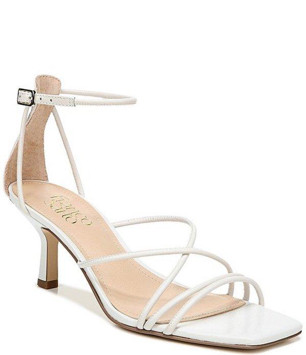フランコサルト レディース ブーツ・レインブーツ シューズ Mia Leather Strappy Square Toe Dress Sandals Putty