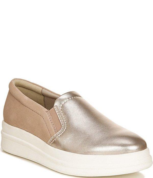 ナチュライザー レディース サンダル シューズ Yardley Leather and Suede Slip On Wedge Sneakers Light Bronze