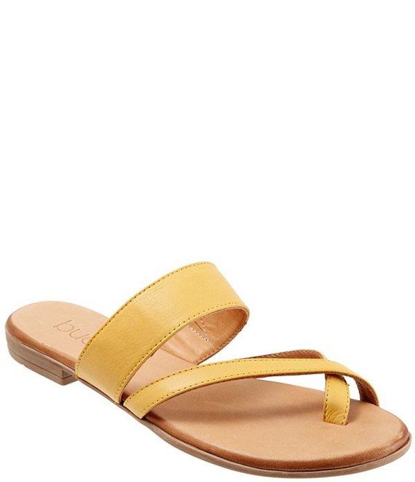 ブエノ レディース サンダル シューズ Jackson Leather Toe Loop Thong Sandals Yellow