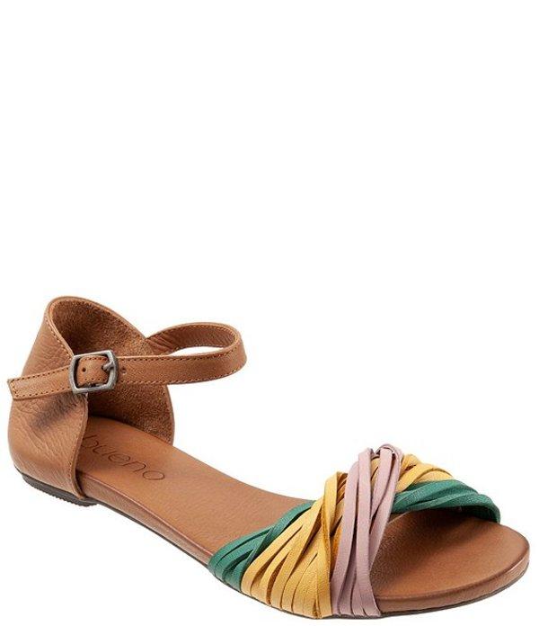 ブエノ レディース サンダル シューズ Cara Colorblock Leather Sandals Mustard Multi