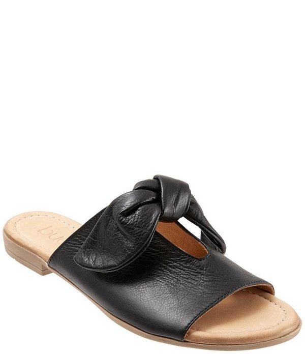 ブエノ レディース サンダル シューズ Joley Leather Big Bow Keyhole Slide Sandals Black