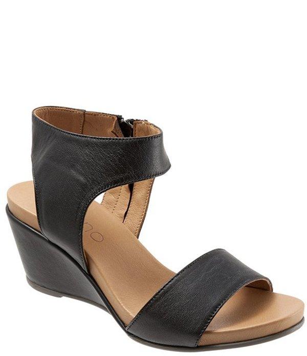 ブエノ レディース サンダル シューズ Ida Leather Wedge Sandals Black