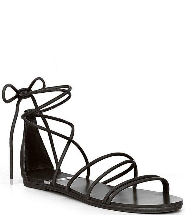 アントニオ メラーニ レディース サンダル シューズ Pindiee Leather Lace Up Flat Sandals Black