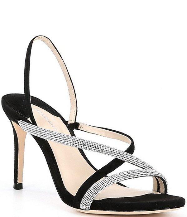 アントニオ メラーニ レディース サンダル シューズ Mesli Strappy Embellished High Heels Black