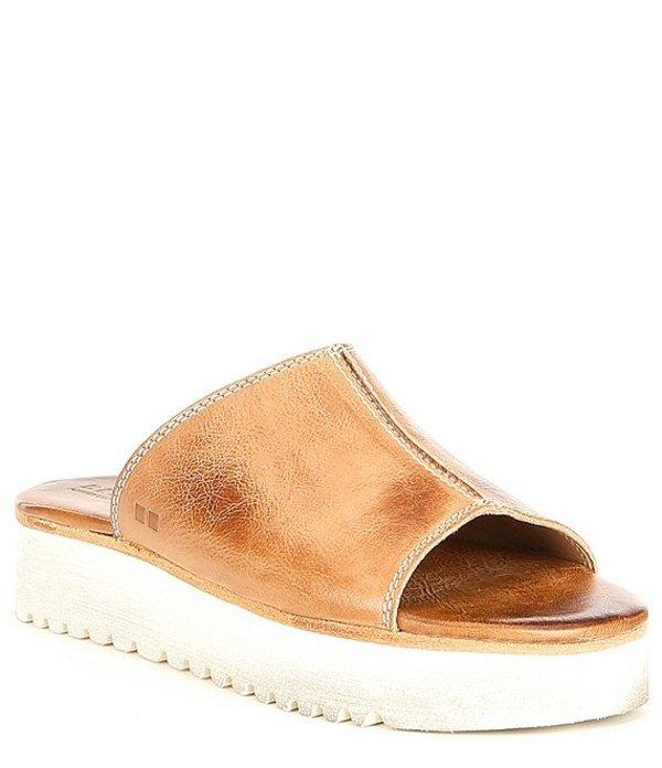 ベッドステュ レディース サンダル シューズ Fairlee II Leather Flatform Sandals Tan Rustic