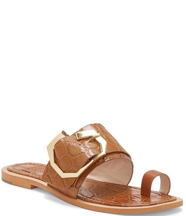 ルイスエシー レディース サンダル シューズ Louise Et Cie Altan Croc Embossed Leather Sandals Beige Snake