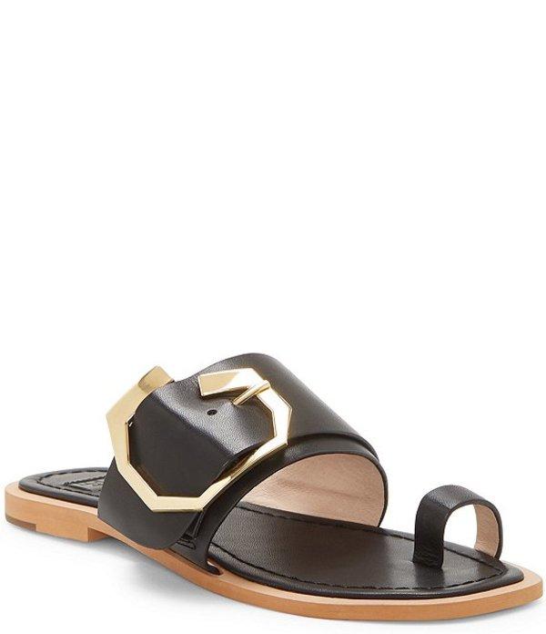 ルイスエシー レディース サンダル シューズ Louise Et Cie Altan Leather Toe Loop Sandals Black