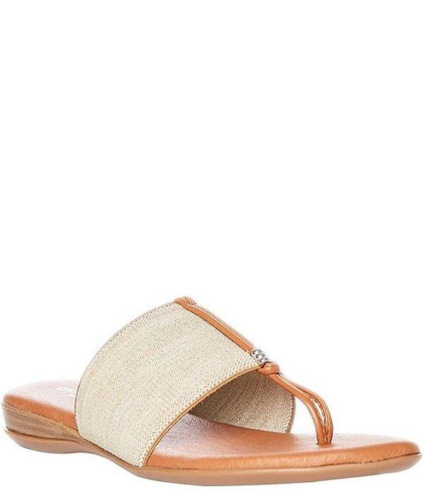 アンドレア アース レディース サンダル シューズ Nice Handmade Thong Sandals Beige Linen
