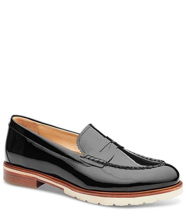 サミュエルフドバード レディース スリッポン・ローファー シューズ Tailored Traveler Patent Leather Penny Loafers Black Patent
