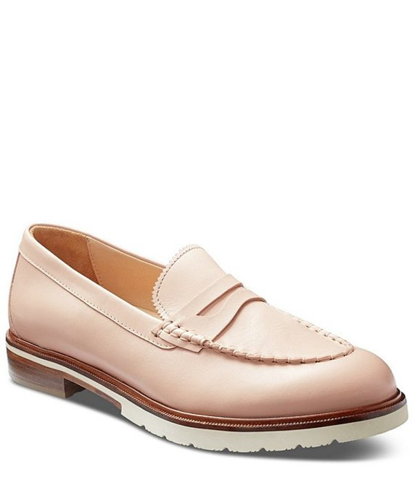 サミュエルフドバード レディース スリッポン・ローファー シューズ Tailored Traveler Leather Penny Loafers Blush Polished Leather