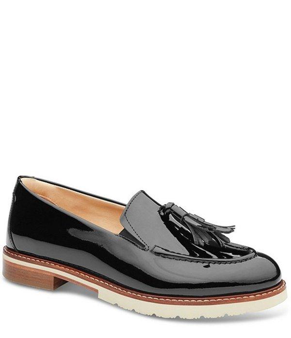 サミュエルフドバード レディース スリッポン・ローファー シューズ Tasseled Traveler Patent Leather Loafers Black Patent