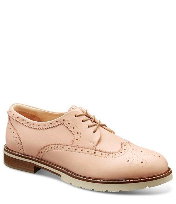 サミュエルフドバード レディース オックスフォード シューズ Winged Traveler Leather Oxfords Blush Leather