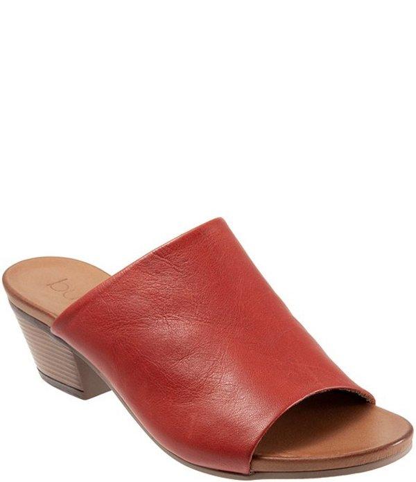 ブエノ レディース サンダル シューズ Simone Leather Block Heel Slide Sandals Terracotta