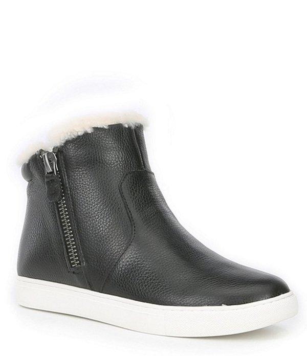 ジェントルソウルズ レディース ブーツ・レインブーツ シューズ Carter Cozy Leather Shearling Lined Sneakers Black