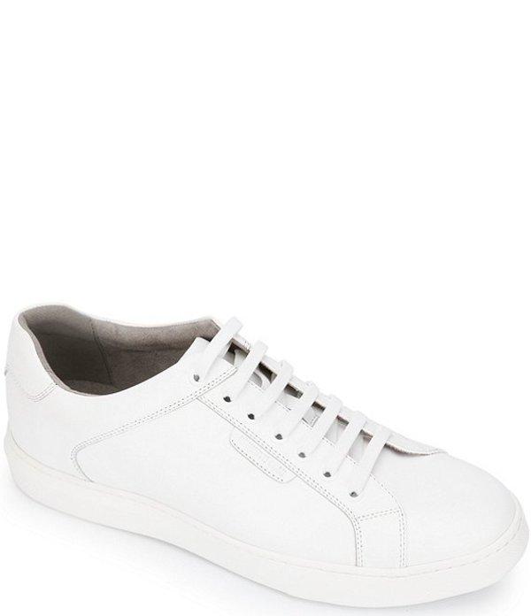 ケネスコール メンズ スニーカー シューズ Men's Liam Leather Lace-Up Sneakers White