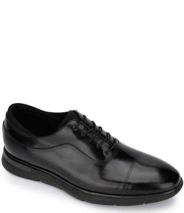ケネスコール メンズ ドレスシューズ シューズ Men's Dover Leather Lace-Up Cap Toe Oxfords Black