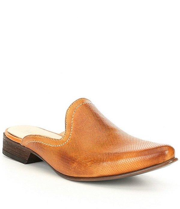 ベッドステュ レディース サンダル シューズ Brenda Distressed Leather Western Mules Mustard Rustic