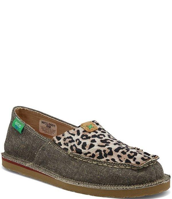 ツイステッドエックス レディース スリッポン・ローファー シューズ Women's ecoTWXR Leopard Slip On Loafers Dust/Leopard