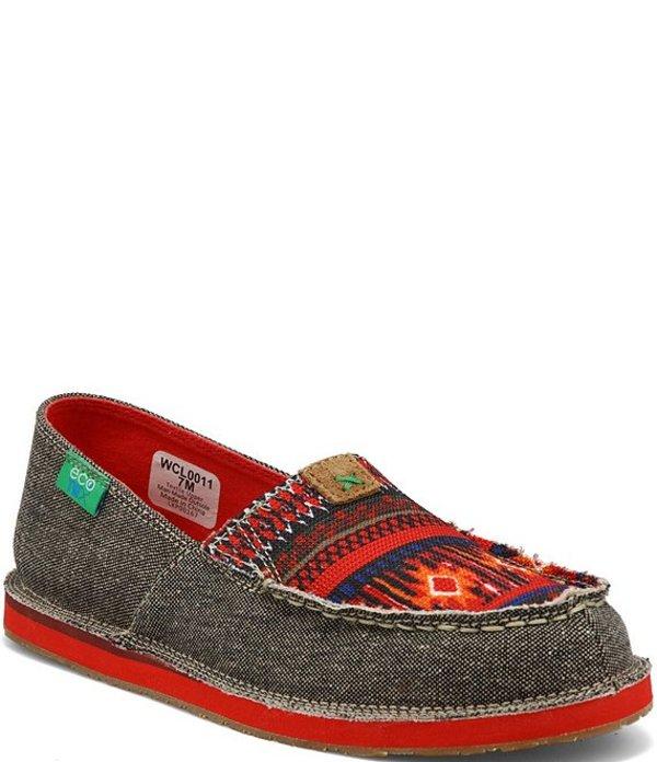 ツイステッドエックス レディース スリッポン・ローファー シューズ Women's ecoTWXR Tribal Print Slip On Loafers Red/Multi