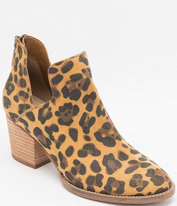 ブロンド レディース ブーツ・レインブーツ シューズ Neda Waterproof Leopard Print Suede Booties Leopard Suede