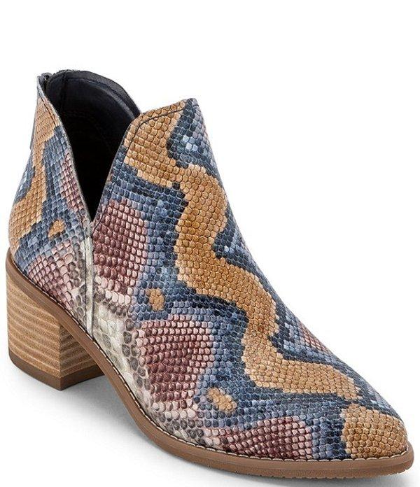 ブロンド レディース ブーツ・レインブーツ シューズ Esmee Waterproof Snake Print Leather Booties Multi Snake