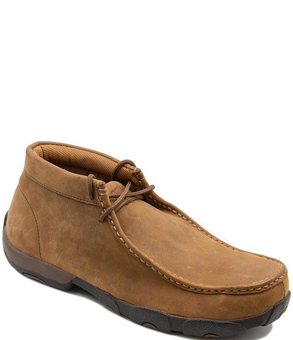 ツイステッドエックス メンズ ドレスシューズ シューズ Men's Work Steel Toe Leather Chukka Driving Moccasins Saddle