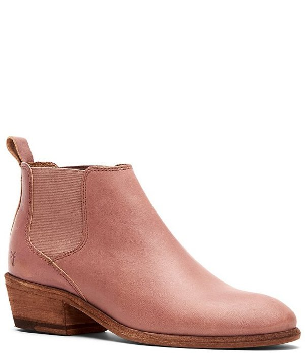フライ レディース ブーツ・レインブーツ シューズ Carson Chelsea Leather Booties Pale Blush Sunwashed Leather