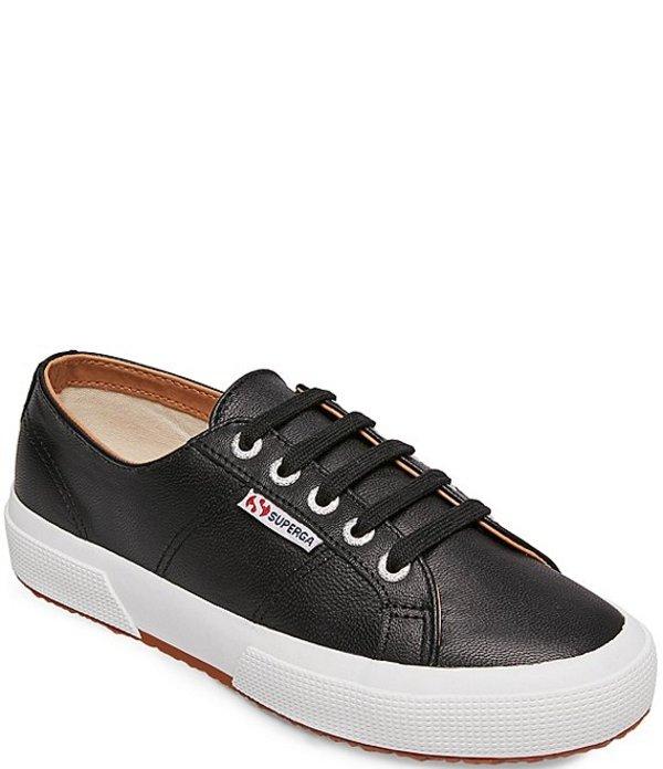 スペルガ レディース スニーカー シューズ 2750 COTU Nappa Leather Sneakers Black