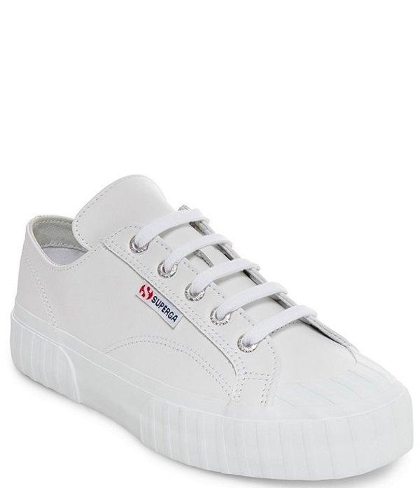 スペルガ レディース スニーカー シューズ 2630 COWNAPPAU Leather Sneakers White