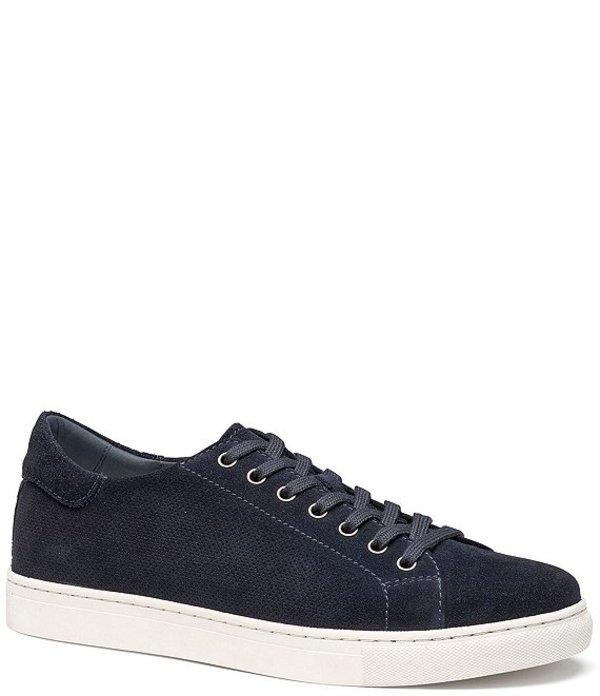 トラスク メンズ ドレスシューズ シューズ Men's Alder Perforated Suede Sneakers Navy