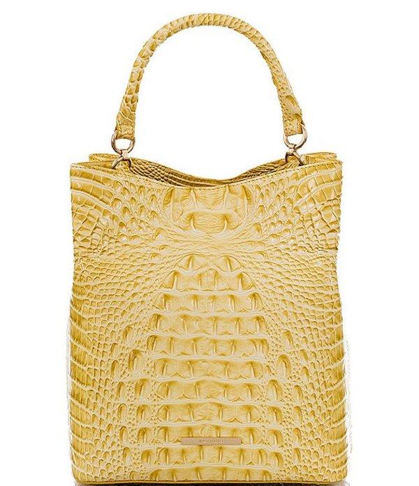 ブランミン レディース ショルダーバッグ バッグ Melbourne Collection Crocodile-Embossed Amelia Bucket Bag Lemonade