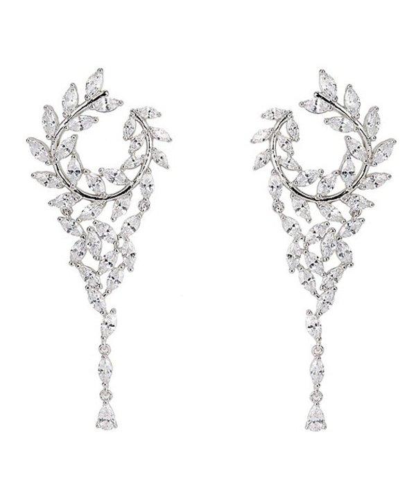 ニナ レディース ピアス・イヤリング アクセサリー Fern Front Back Chandelier Hoop Earring Silver/Crystal