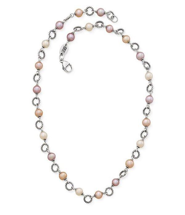 ジェームズ エイヴリー レディース ネックレス・チョーカー アクセサリー Twisted Wire Link Necklace with Multi-Colored Cultured Pearls Sterling Pearl
