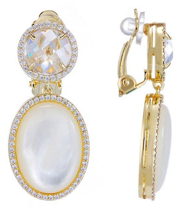 ニナ レディース ピアス・イヤリング アクセサリー Olyvia Clip Earrings Gold Mother of PearlK1JTFc3l