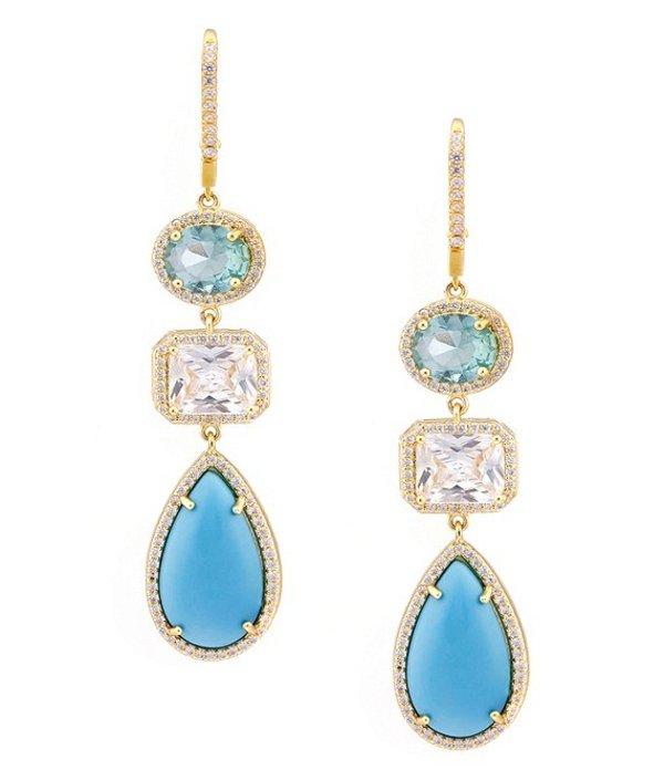 ニナ レディース ピアス・イヤリング アクセサリー Lora Drop Earrings Gold Turquoise