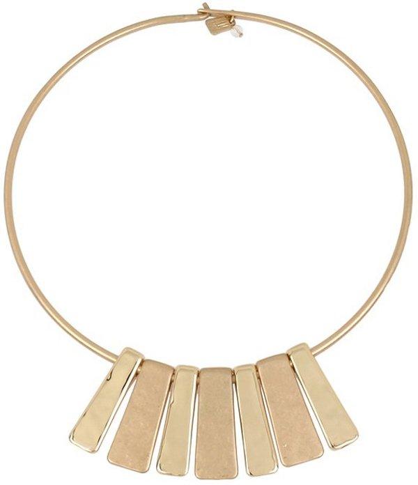 ロバート リー モーリス レディース ネックレス・チョーカー アクセサリー Geometric Bar Collar Necklace Gold
