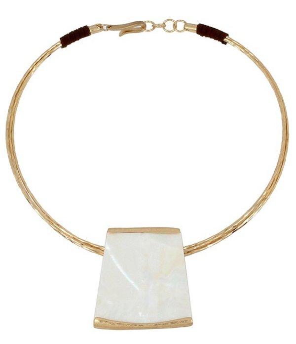 ロバート リー モーリス レディース ネックレス・チョーカー アクセサリー Geometric Pendant Collar Necklace White