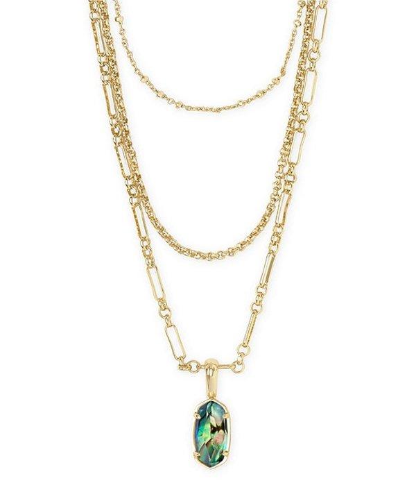 ケンドラスコット レディース ネックレス・チョーカー アクセサリー Elisa Gold Triple Strand Necklace Abalone Shell