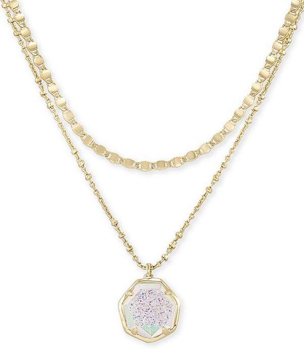 ケンドラスコット レディース ネックレス・チョーカー アクセサリー Cynthia Gold Multi Strand Necklace Iridescent Drusy