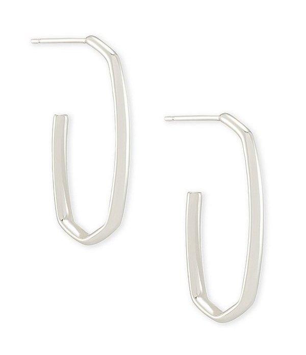 送料無料 サイズ交換無料 ケンドラスコット レディース アクセサリー ピアス Earrings Rhodium おすすめ Ellen Hoop 高品質新品 イヤリング Plated