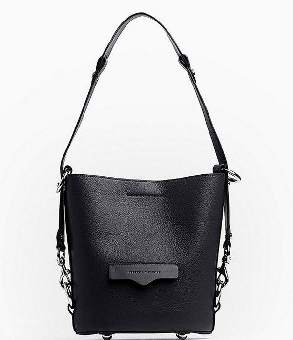 レベッカミンコフ レディース ショルダーバッグ バッグ Utility Small Convertible Bucket Bag Black
