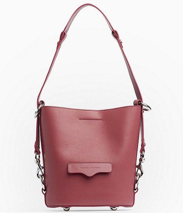 レベッカミンコフ レディース ショルダーバッグ バッグ Utility Small Convertible Bucket Bag Fig