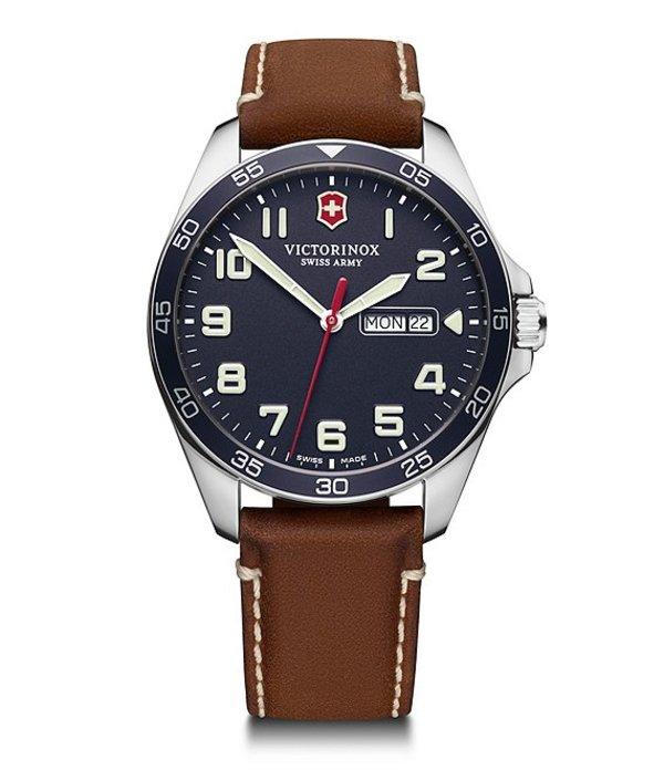 ビクトリノックス メンズ 腕時計 アクセサリー Field Force Blue Dial Watch Blue